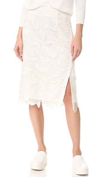 Grey Jason Wu Lace Skirt