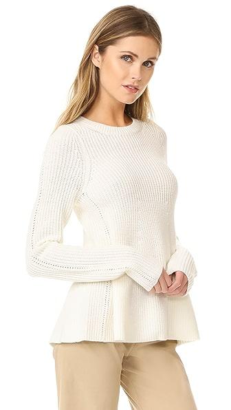 Grey Jason Wu Long Sleeve Flare Sweater