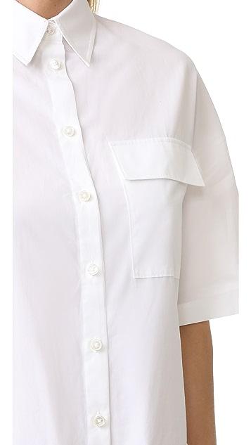 Jason Wu Grey Relaxed Shirting Shirt Dress