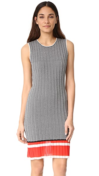 Grey Jason Wu Chevron Dress