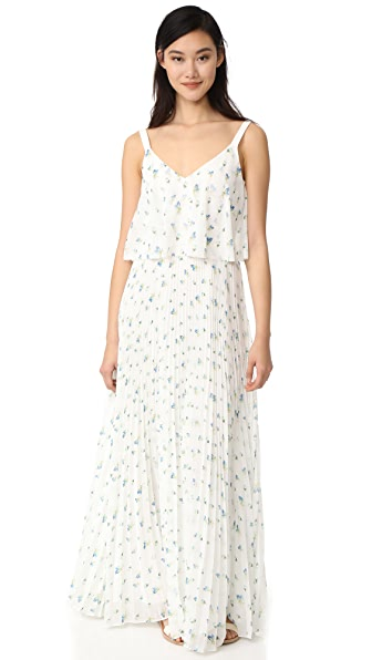 Grey Jason Wu Print Maxi Dress - White Multi