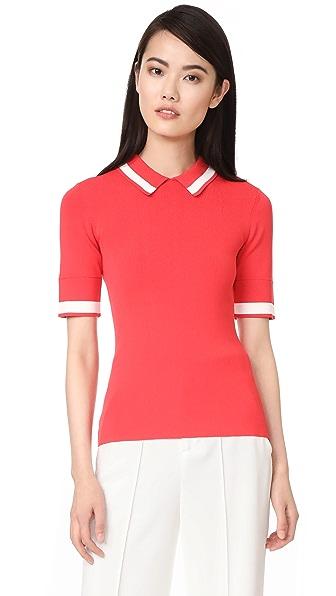 Grey Jason Wu Knit Polo Shirt