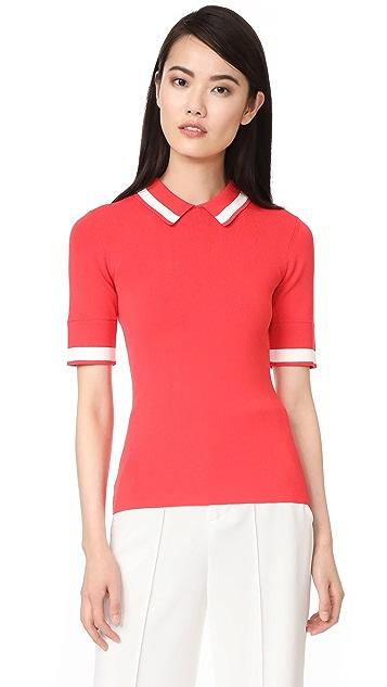 Jason Wu Grey Knit Polo Shirt