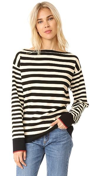 Grey Jason Wu Boat Neck Sweater