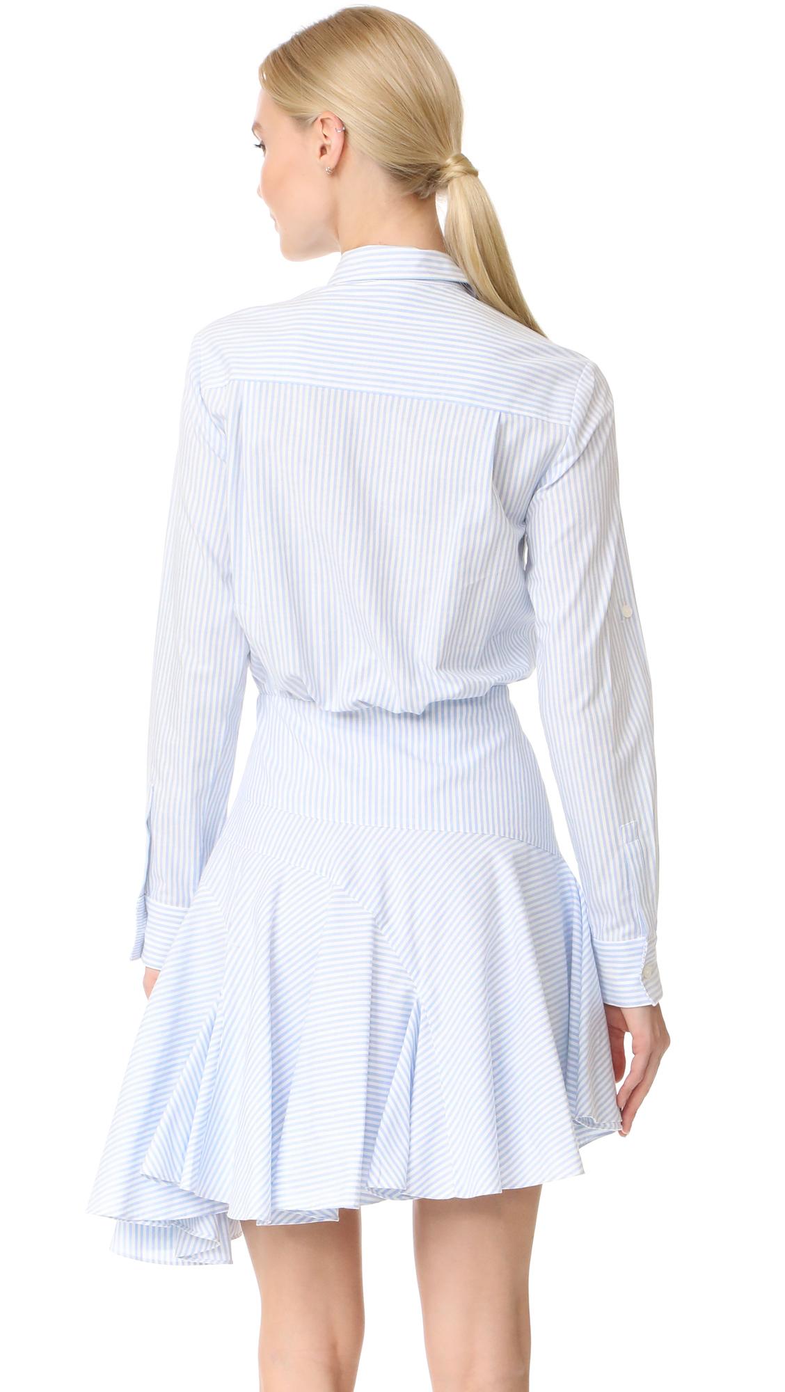 3a195749b134 Jason Wu Grey Long Sleeve Stripe Asymmetrical Dress   SHOPBOP