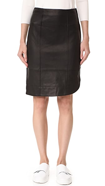 Grey Jason Wu Asymmetrical Leather Skirt