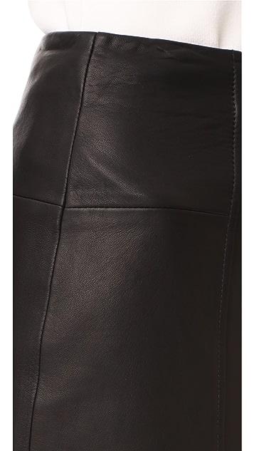 Jason Wu Grey Asymmetrical Leather Skirt