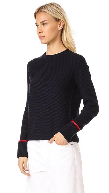 Jason Wu Grey Ribbed Knit Sweater