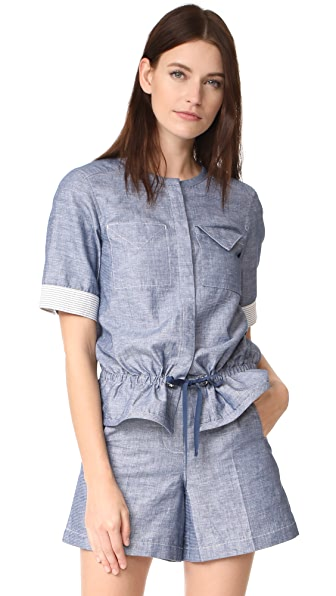 Grey Jason Wu Short Sleeve Top