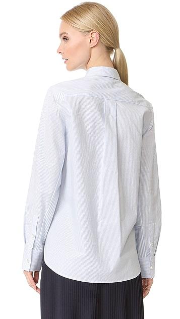 Jason Wu Grey Button Down Stripe Cotton Shirt