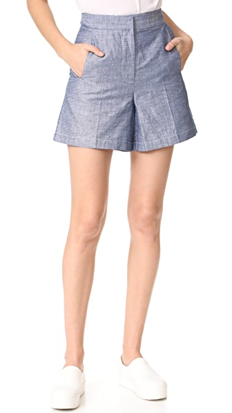 Grey Jason Wu High Waist Shorts - Light Indigo