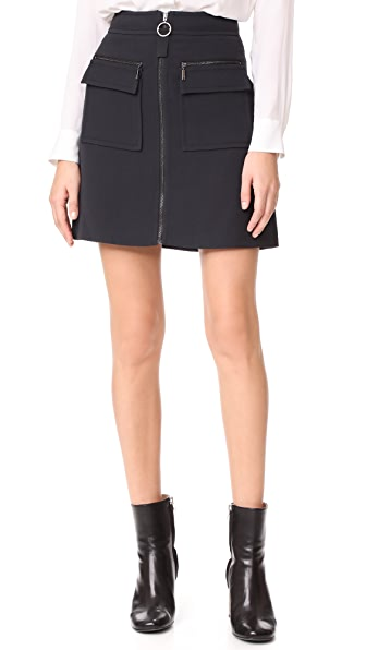 Grey Jason Wu Miniskirt In Black