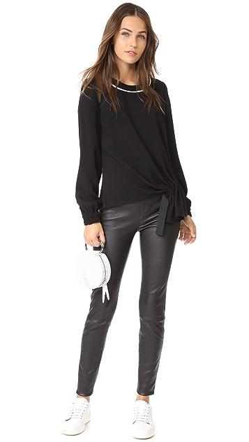 Jason Wu Grey Long Sleeve Asymmetrical Top