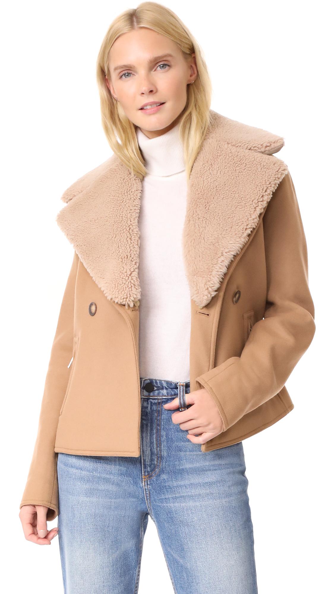 7178a67b01 Jason Wu Grey Shearling Collar Jacket | SHOPBOP