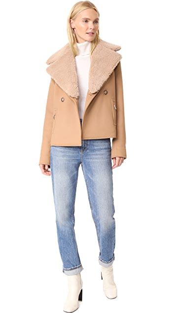 Jason Wu Grey Shearling Collar Jacket