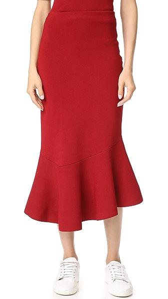 Jason Wu Grey Flippy Skirt In Sandy Red