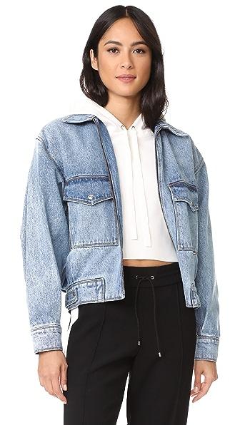 Grey Jason Wu Oversized Denim Jacket