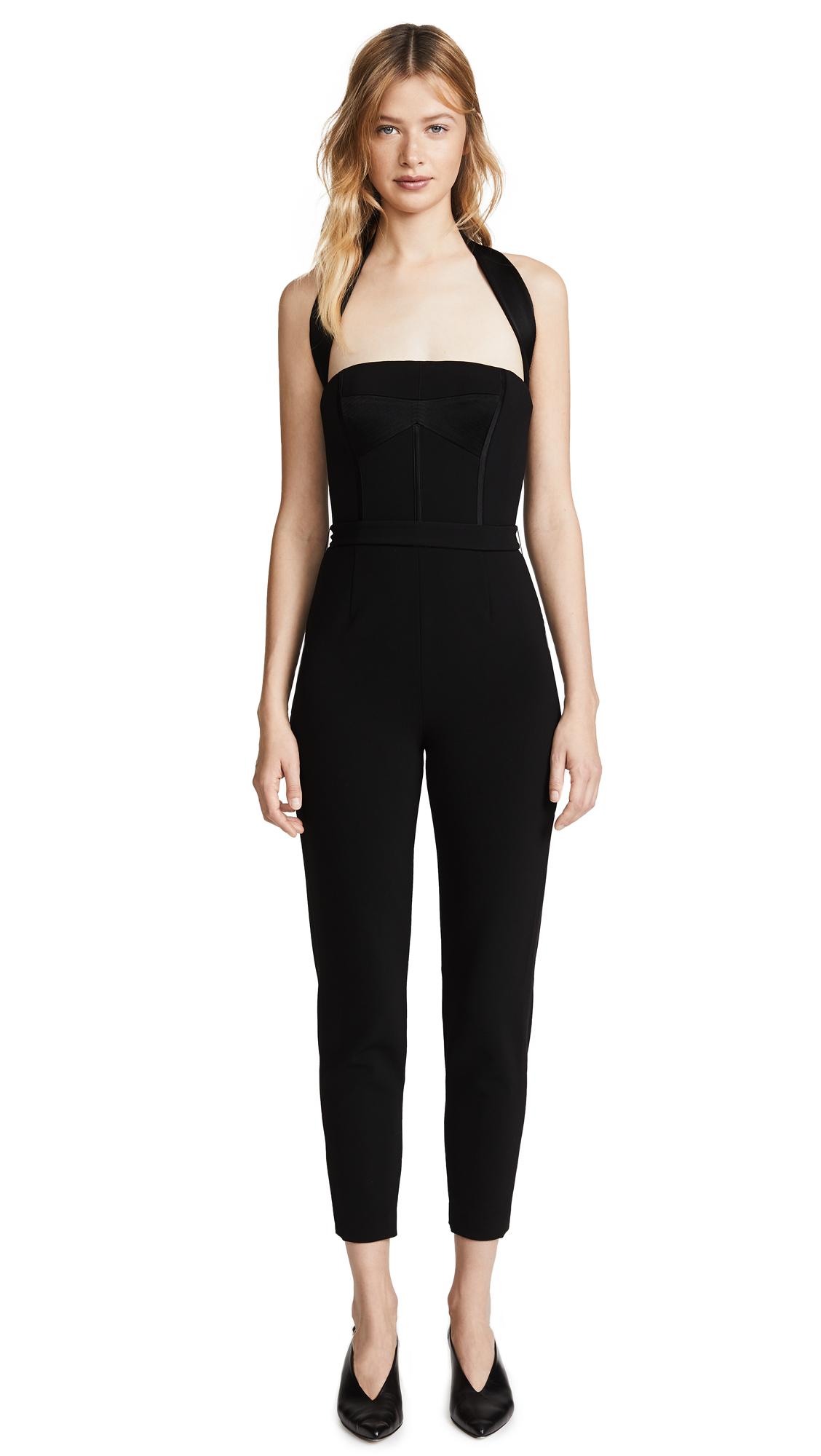 Jason Wu Grey x Diane Kruger Heavy Body Crepe Jumpsuit - Black