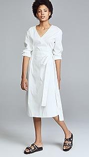 Jason Wu 弹性棉质长袖裹身连衣裙