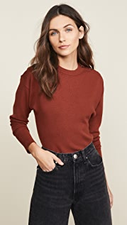 Jason Wu Three Button Long Sleeve Knit Top