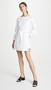 Jason Wu Платье из ткани в рубчик с поясом