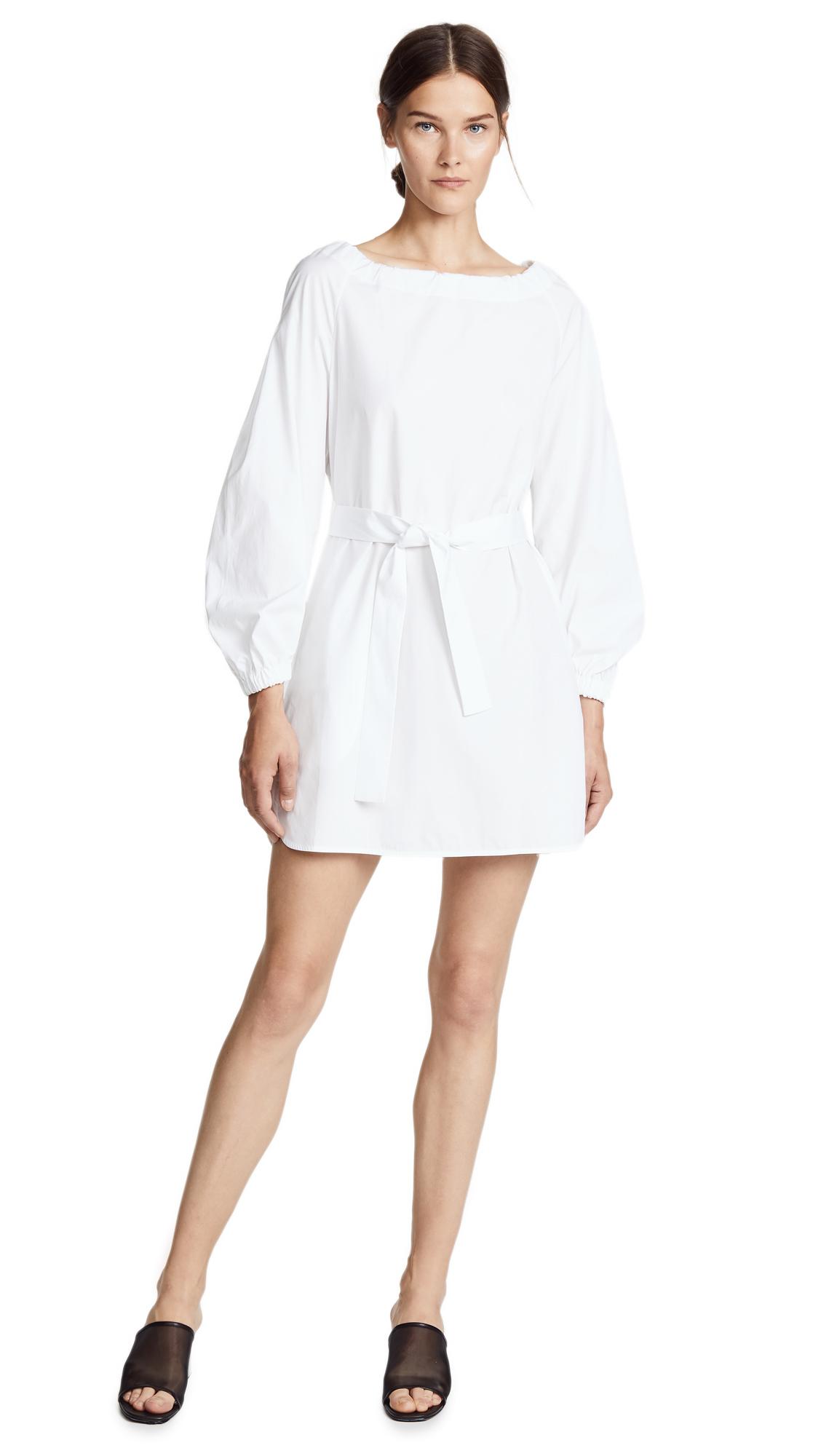 POPLIN BELTED DRESS