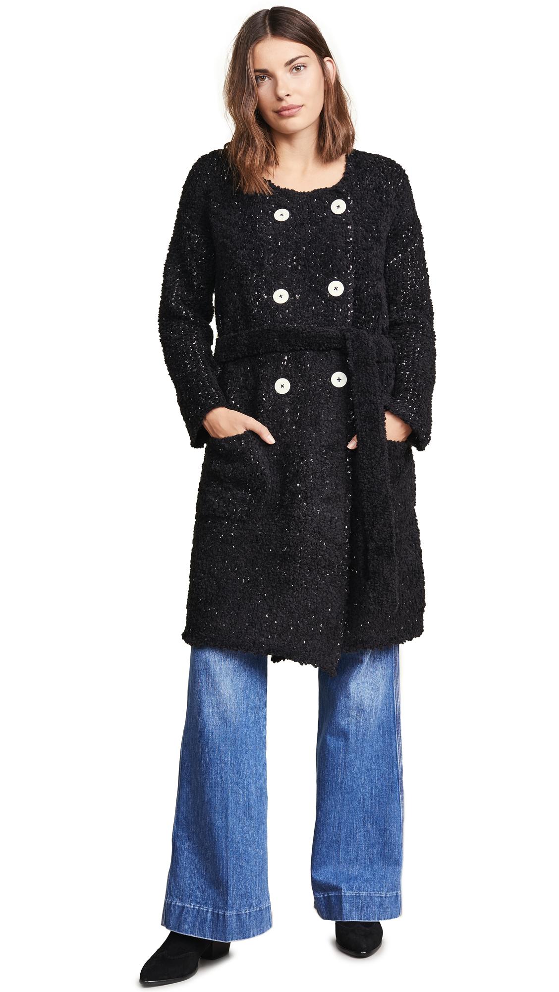 Jason Wu Grey Boucle Double Breasted Coat