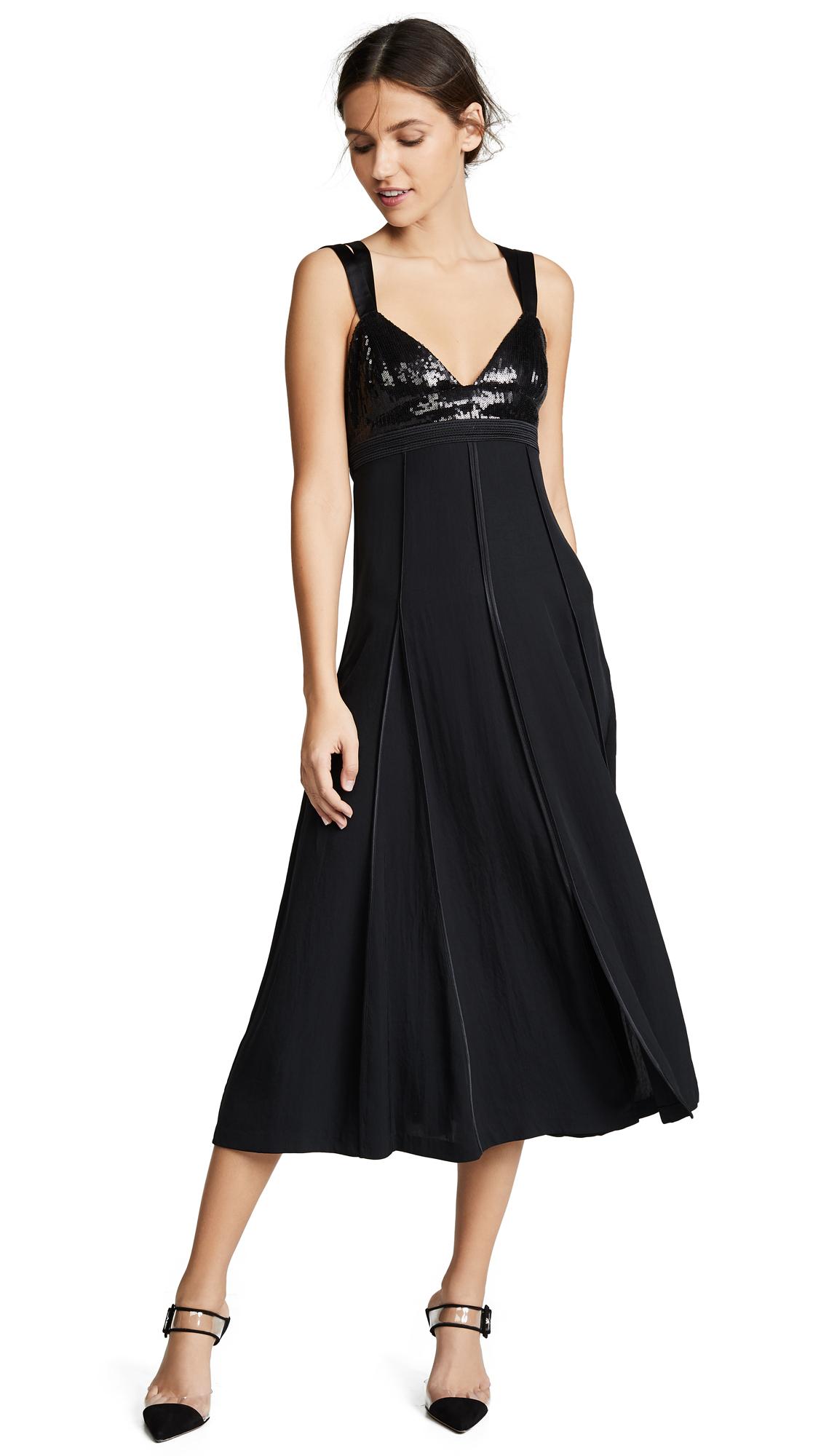 Jason Wu Grey Sequin Bustier Maxi Dress