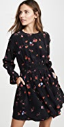 Jason Wu Floral Long Sleeve Dress