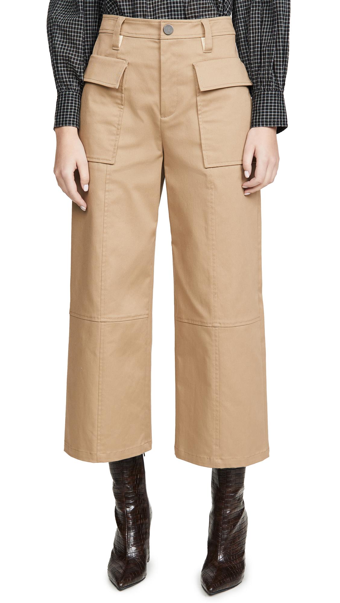 Buy Jason Wu online - photo of Jason Wu Cotton Twill Utility Wide Leg Pants