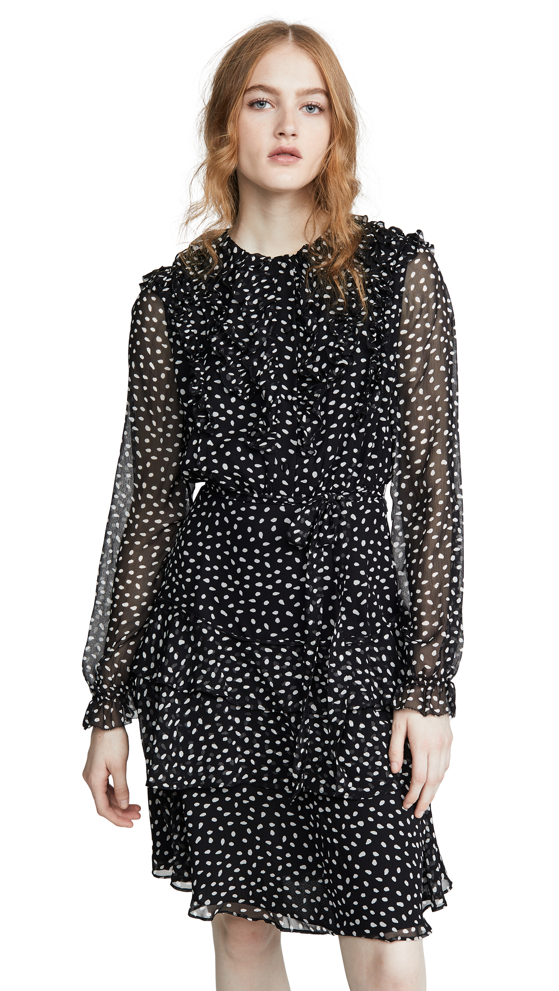 Jason Wu Small Dot Long Sleeve Dress - 50% Off Sale