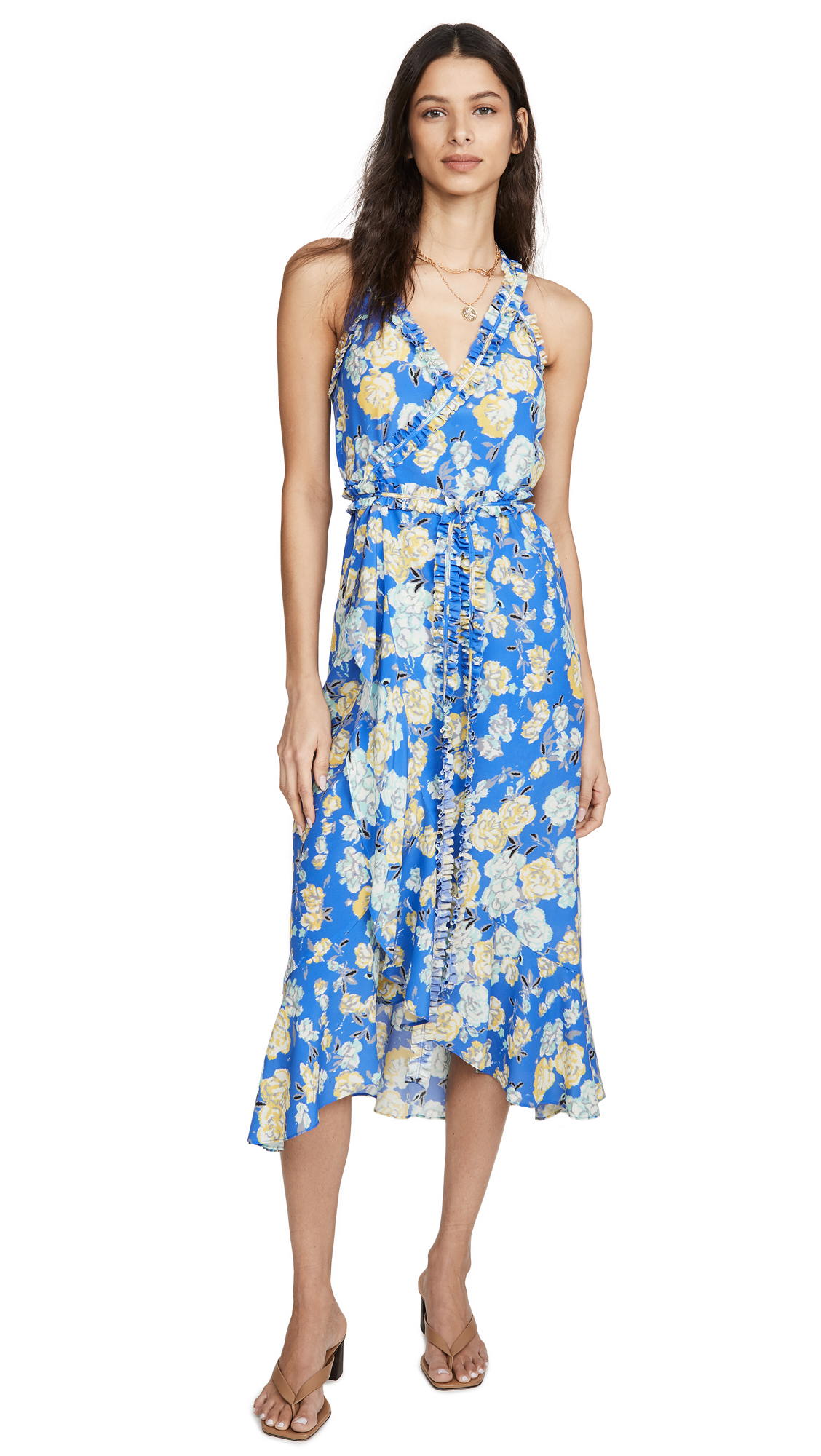 Jason Wu Floral Sleeveless Wrap Dress - 30% Off Sale