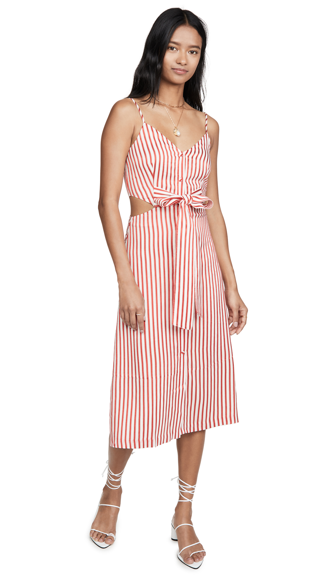 Jason Wu Fluid Stripe Front Tie Dress - 40% Off Sale
