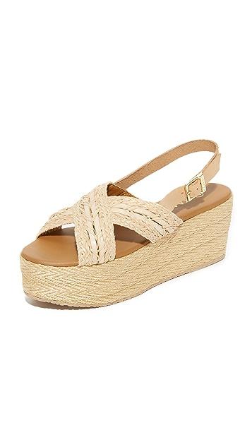 KAANAS Nut Platform Espadrille Sandals