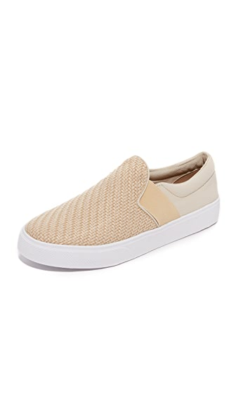 KAANAS Santa Fe Raffia Slip on Sneakers - Cream