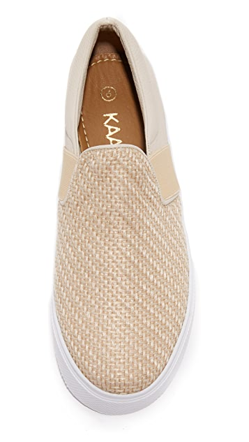KAANAS Santa Fe Raffia Slip on Sneakers