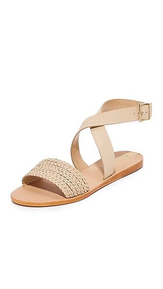 KAANAS Fortaleza Braided Sandals - Beige