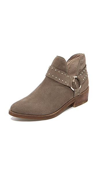KAANAS Leon Western Booties In Taupe