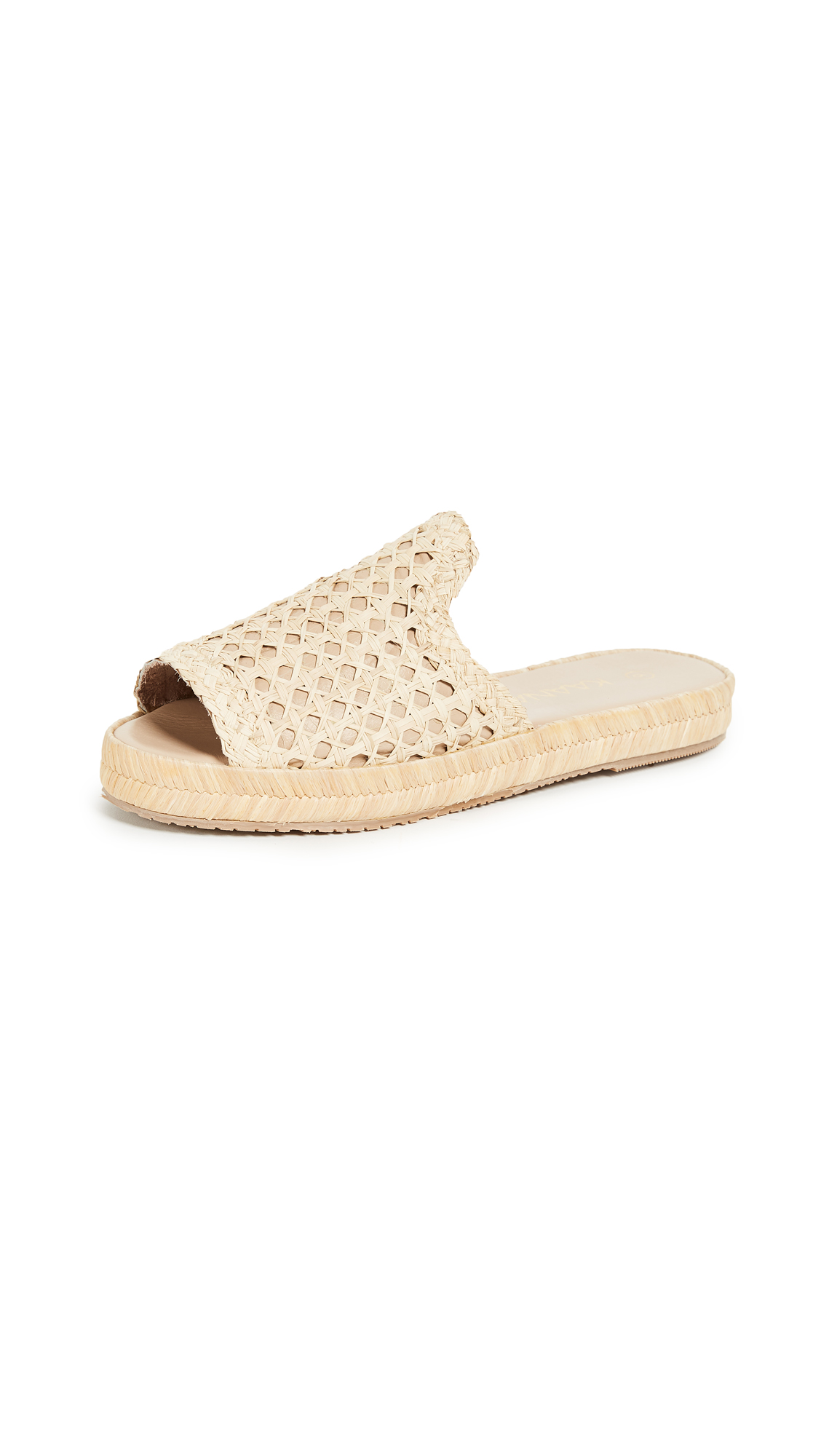KAANAS Martinique Woven Pool Slides - Natural