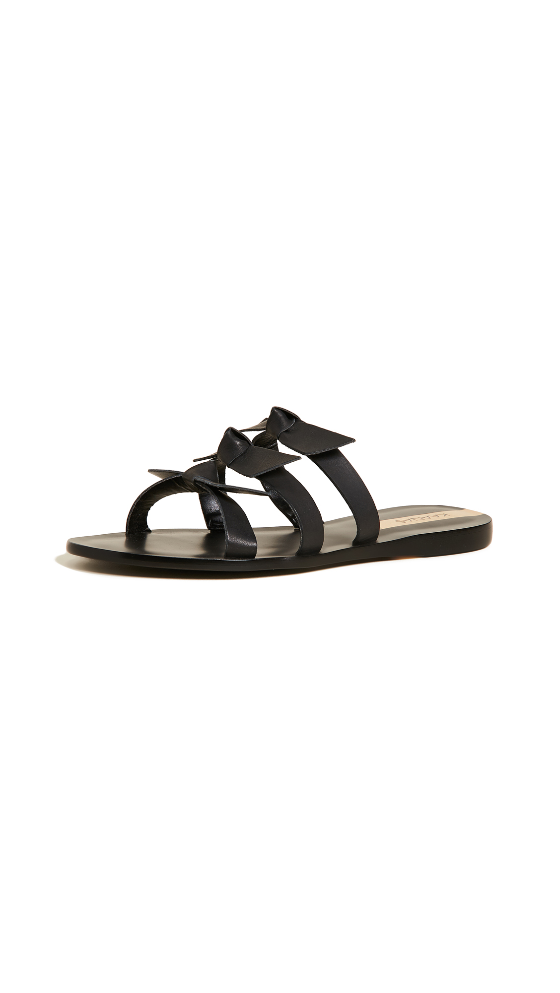 KAANAS Recife Bow Sandals - Black