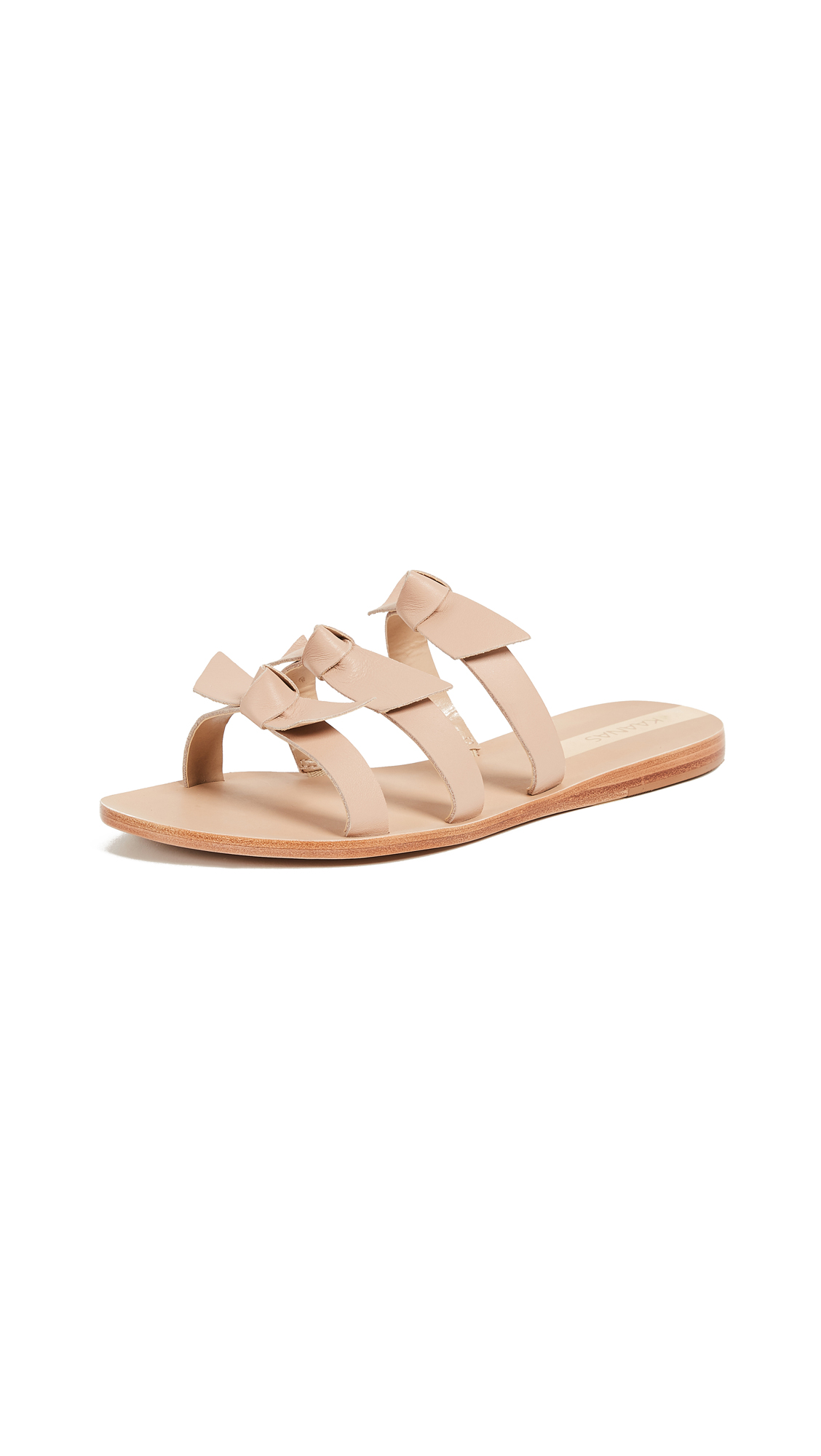 KAANAS Recife Bow Sandals - Nude