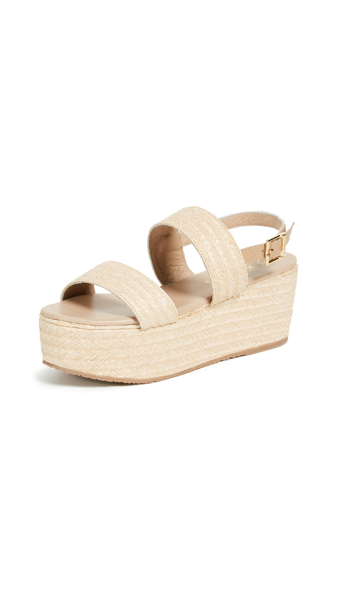 KAANAS Goa Raffia Sandals - Natural