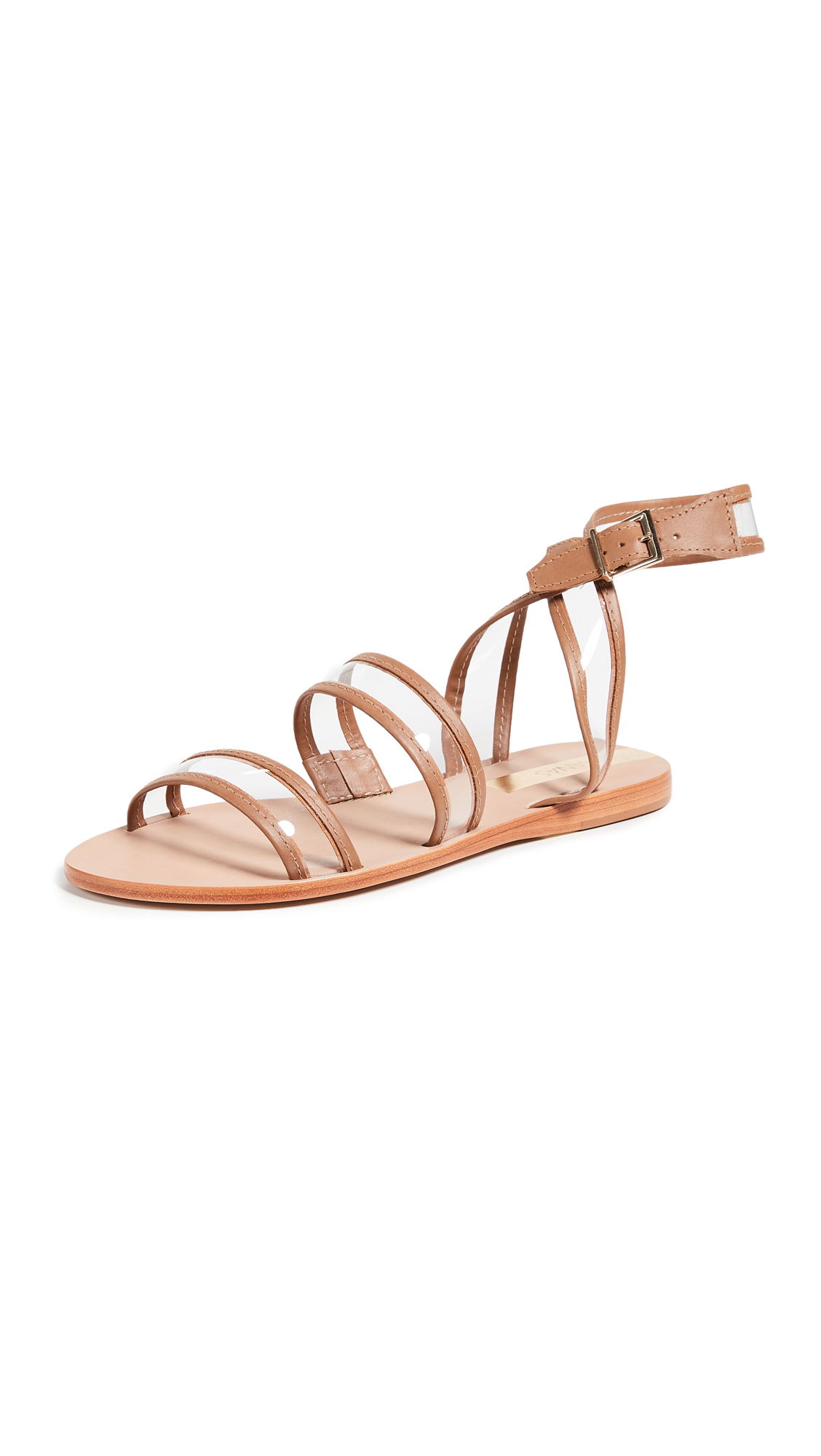KAANAS Olinda See-Through Sandals - Honey