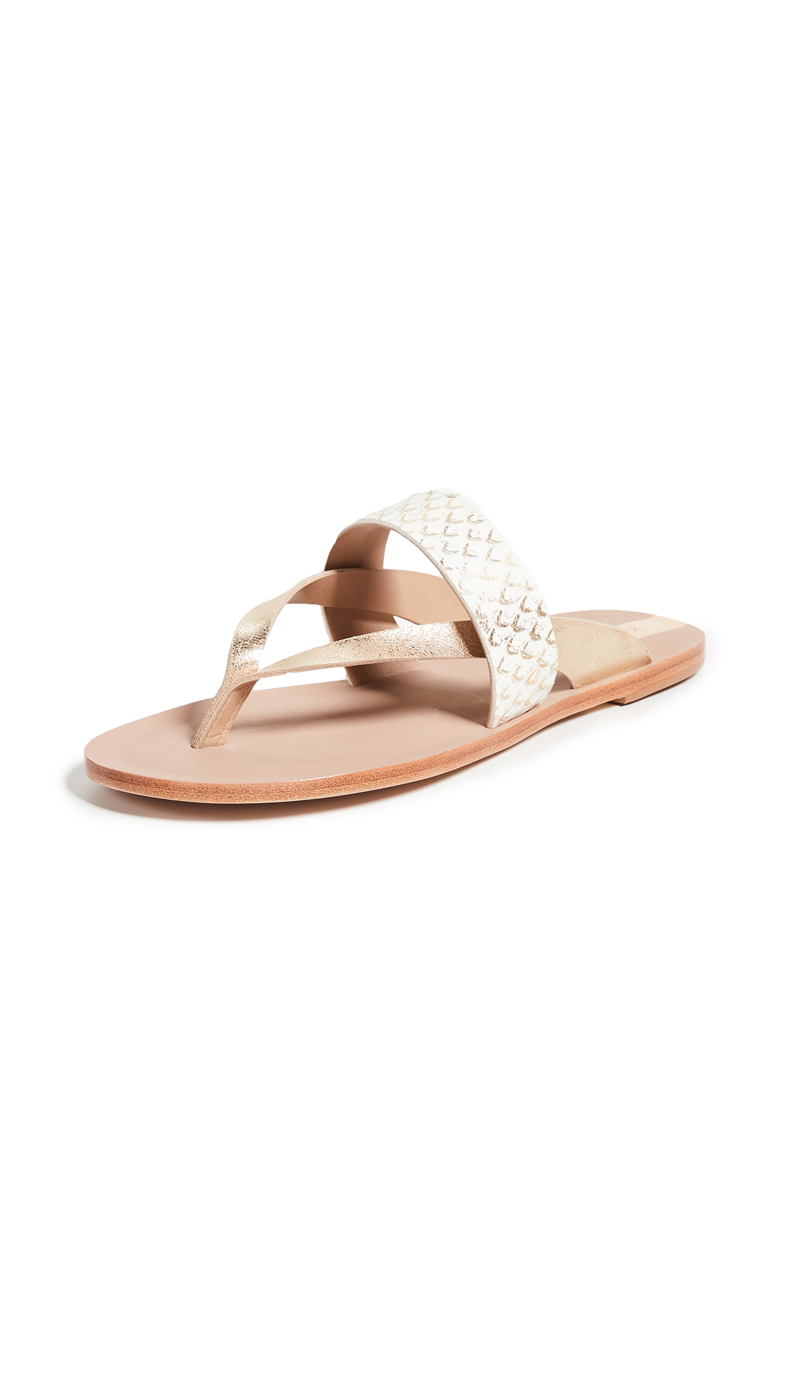 KAANAS Natal Slipon Sandals - Gold