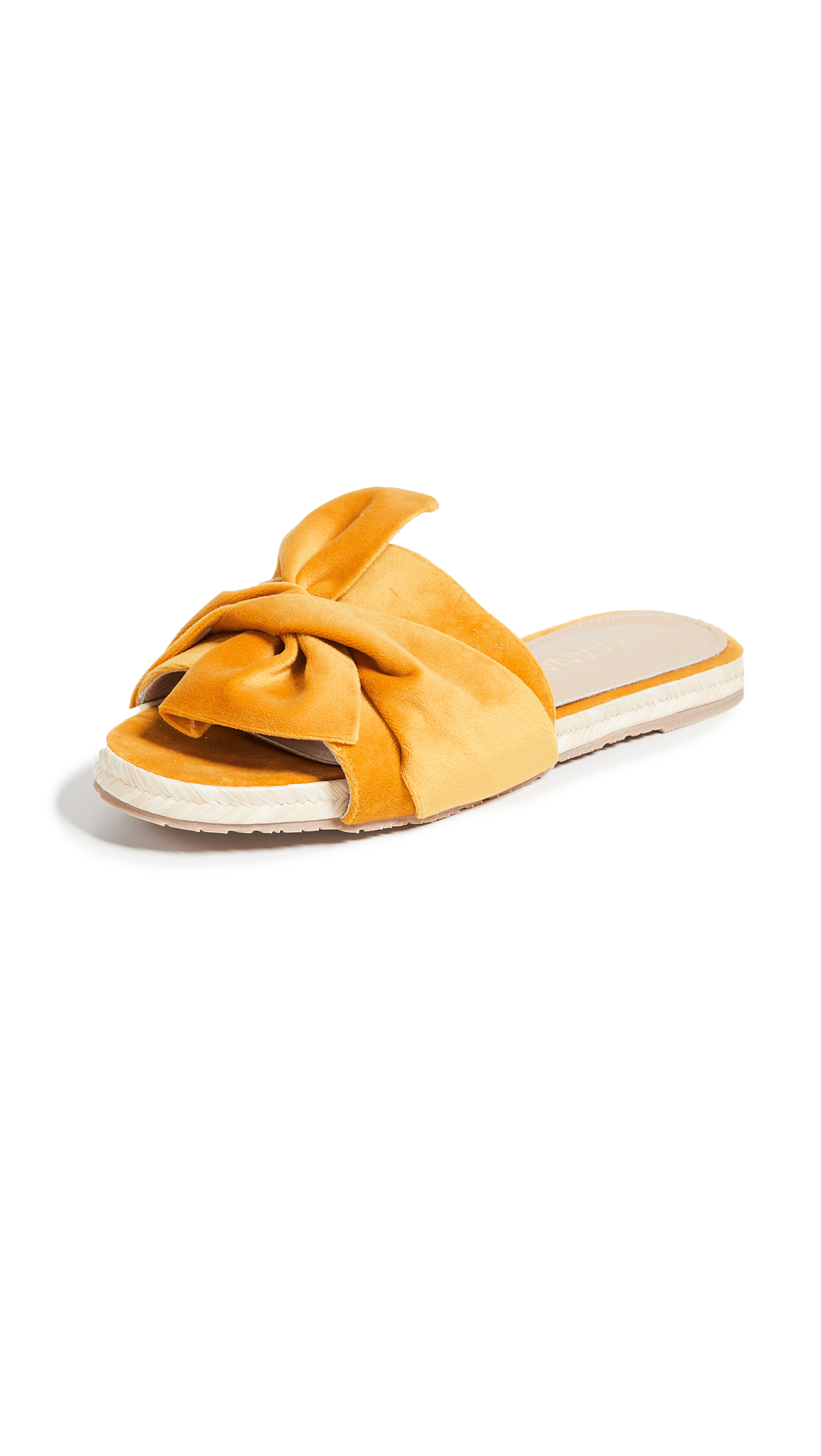 KAANAS Sausalito Bow Slides - Marigold