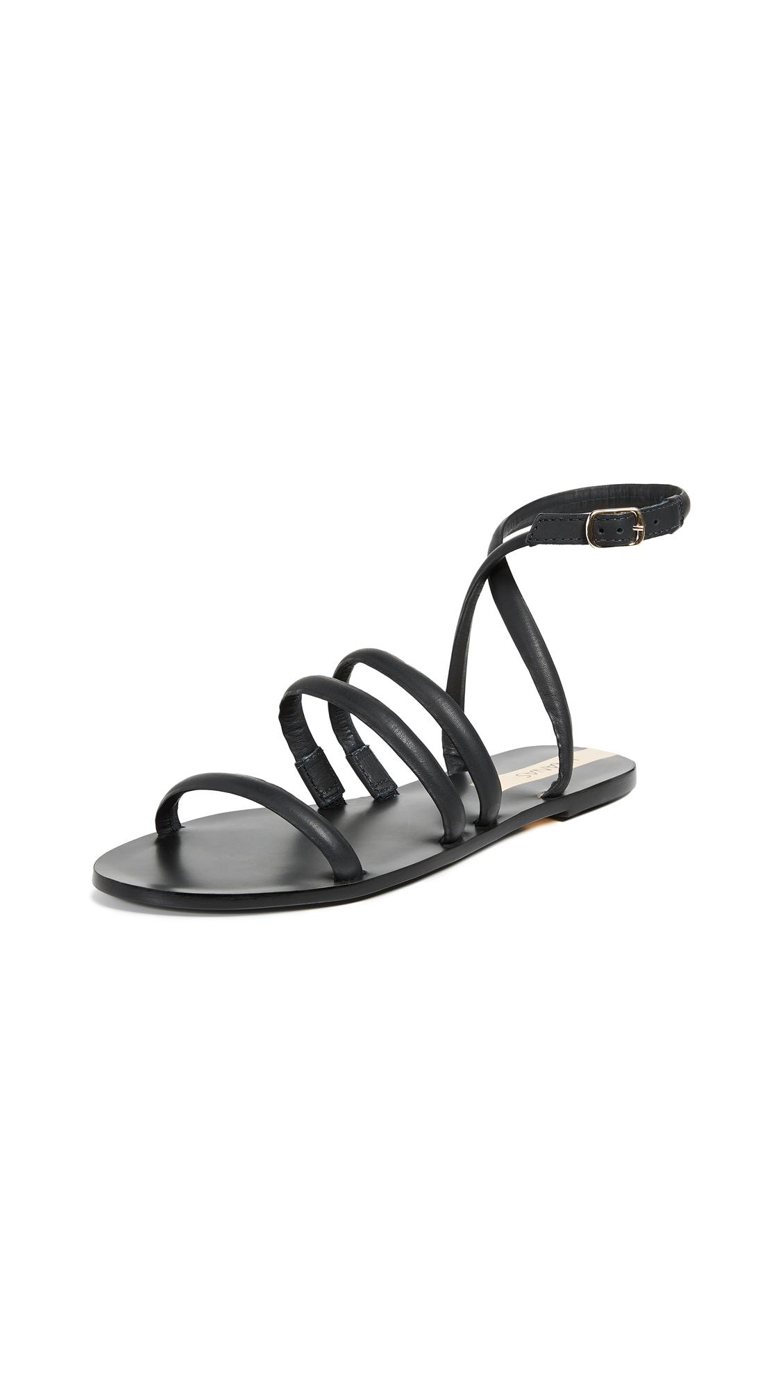 KAANAS Diamantina Strappy Sandals - Black