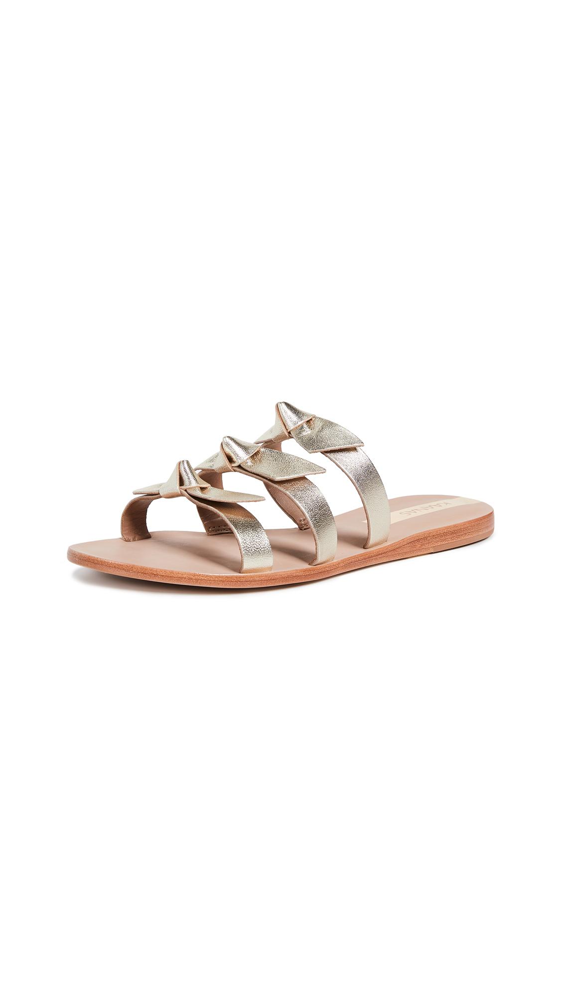 KAANAS Recife Bow Sandals - Gold