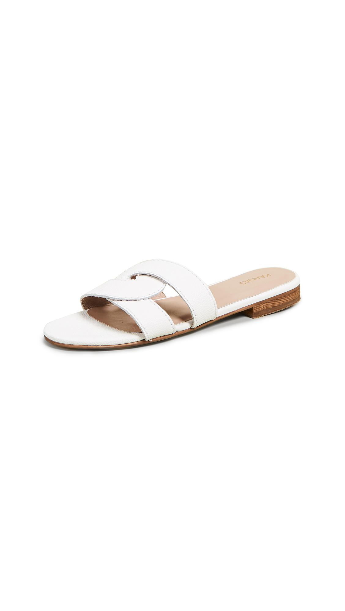 KAANAS Santorini Infinity Sandals - White