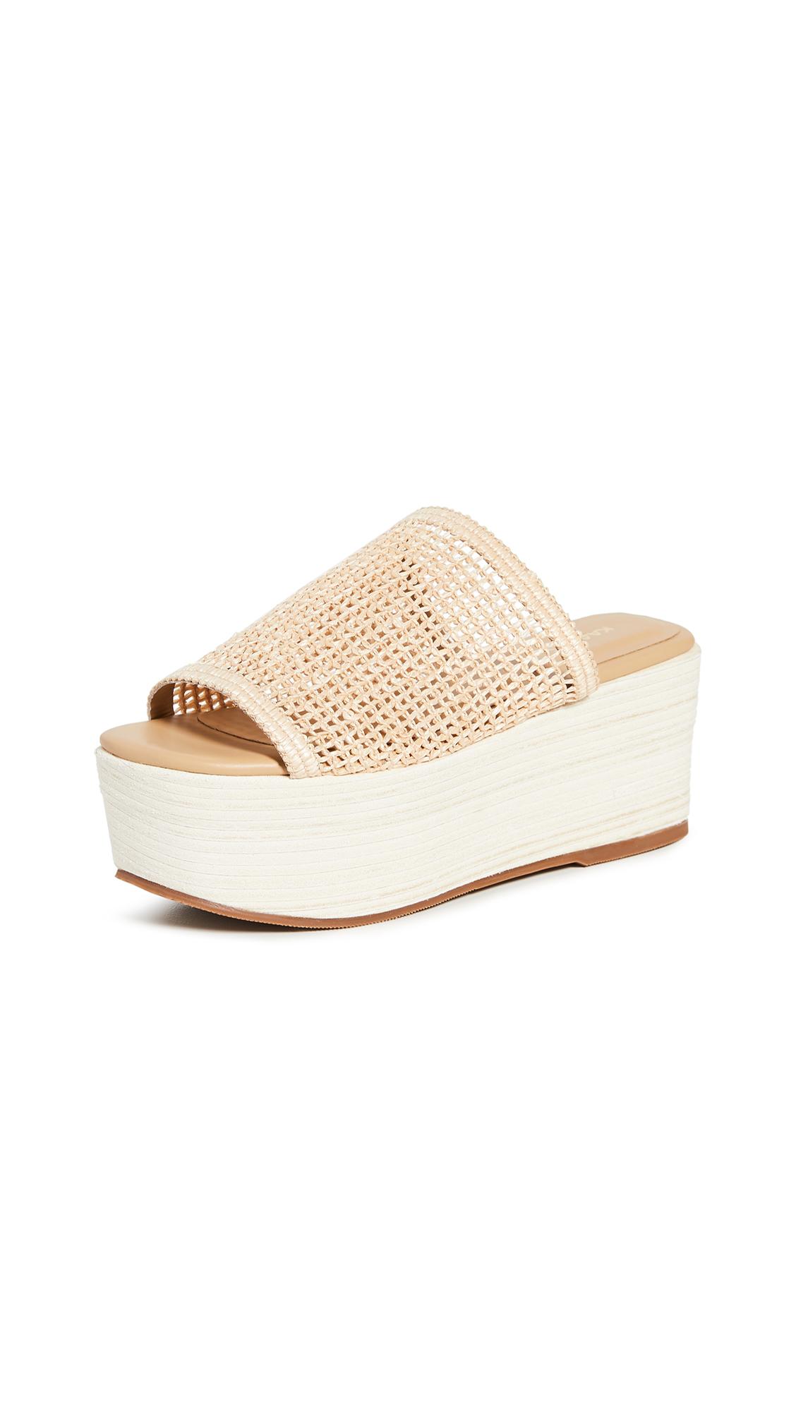 Buy KAANAS Barbados Fishnet Wedge Sandals online, shop KAANAS