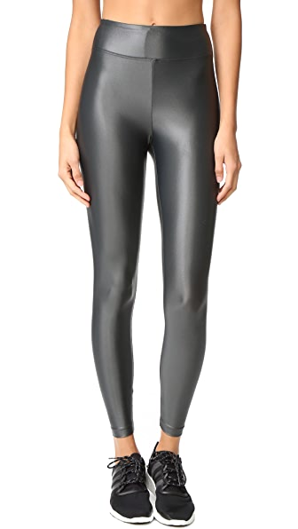 KORAL ACTIVEWEAR Lustrous High Rise Leggings - Gunmetal